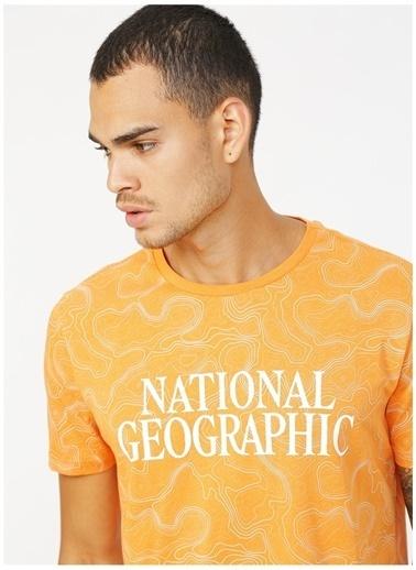 National Geographic Tişört Oranj